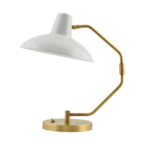 House Doctor, Bordlampe, Desk - lys grå/messing