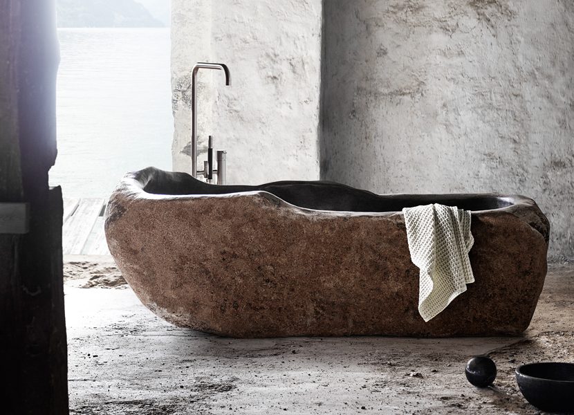 bathtub muubs exclusive luxury riverstone badekar