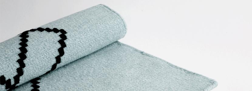 tæppe rug fra louise roe støvgrøn tekstiler