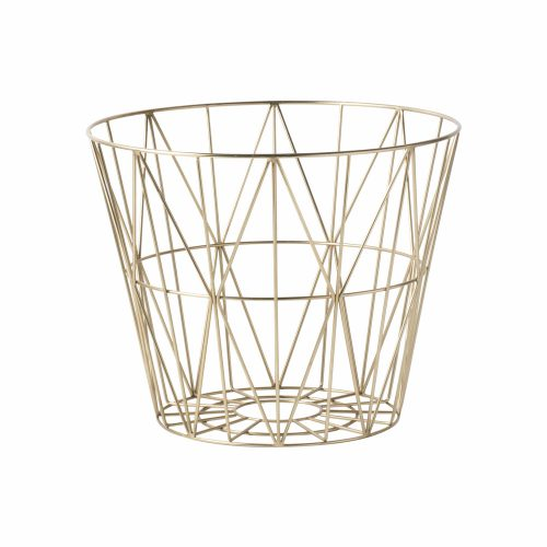 FERM LIVING, Wire basket i messing