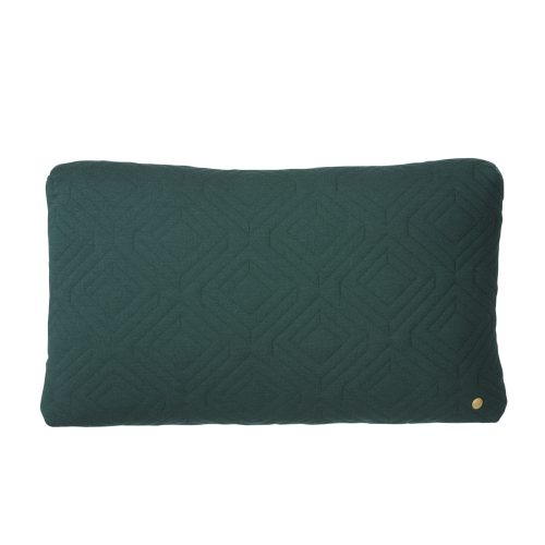 FERM Living, Quilt cushion mørkegrøn