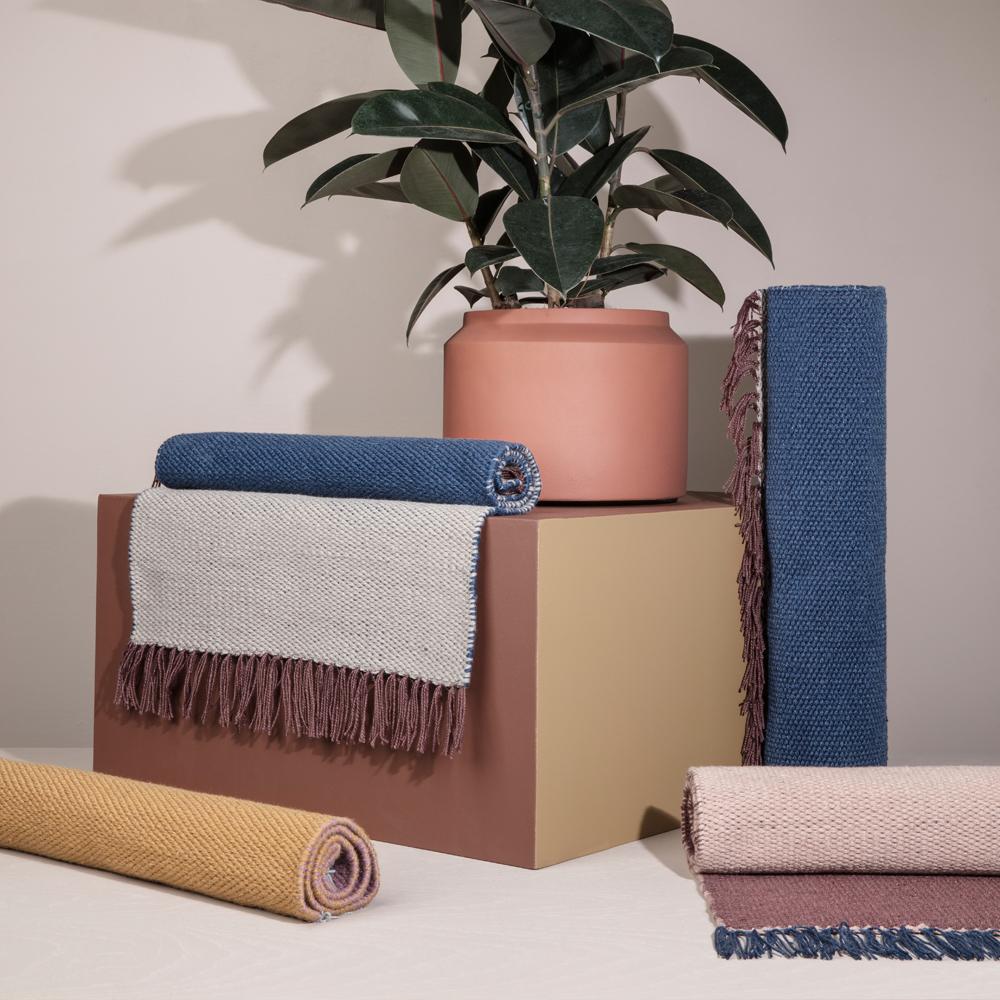 ferm living nomad rug rosa bordeaux. Black Bedroom Furniture Sets. Home Design Ideas