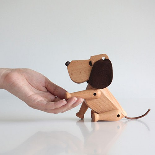 oscar hund architectmade dog wood træfigur