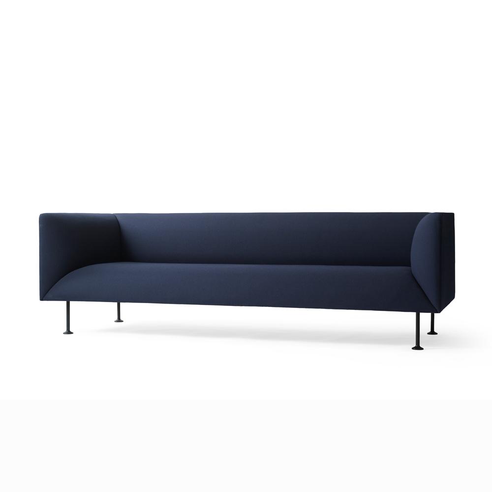 Menu, Godot Sofa, 3-seater Blå - FORMajour