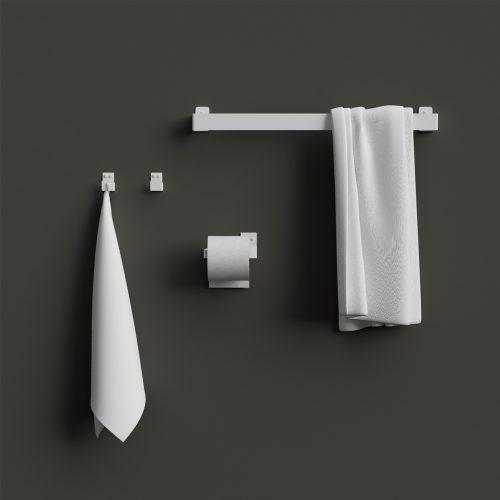 Nichba - Towel hanger, hvid