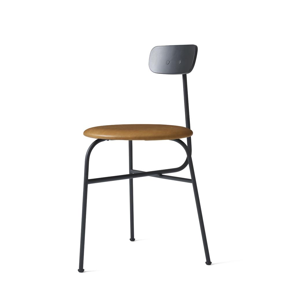 Menu stol, Afteroom Sort/Cognac læder