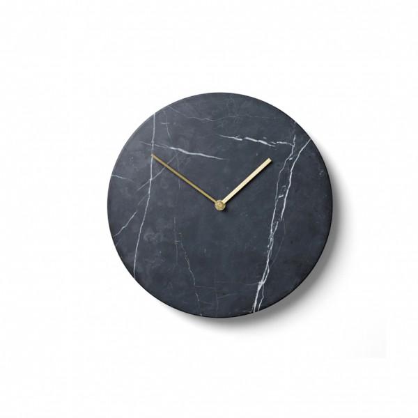 Menu, Norm Wall clock / vægur – Sort marmor