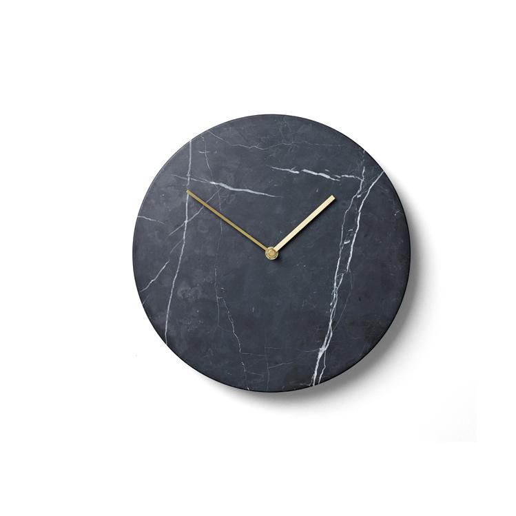 Menu, Norm Wall clock / vægur - Sort marmor