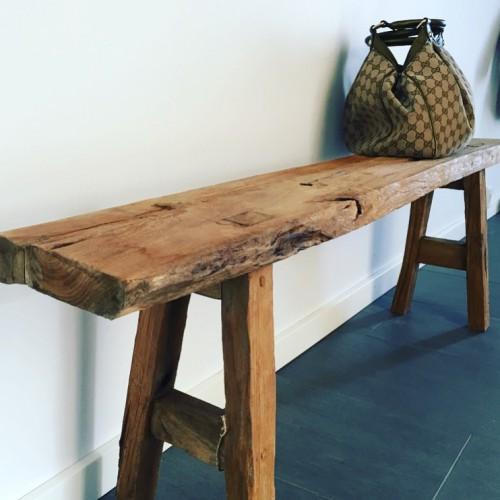 bænk drift muubs teak genbrugstræ indretning møbler