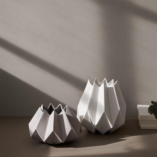 folded vase menu formajour