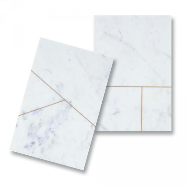 House Doctor, Platte, Hvid marmor – rektangulær