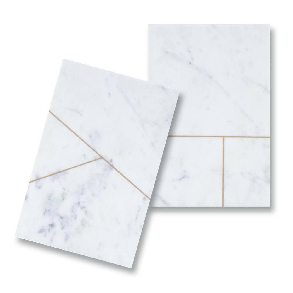 House Doctor, Platte, Hvid marmor - rektangulær