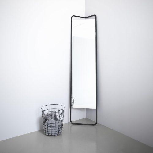 kaschkasch mirror black sort spejl gulvspejl menu FORMajour