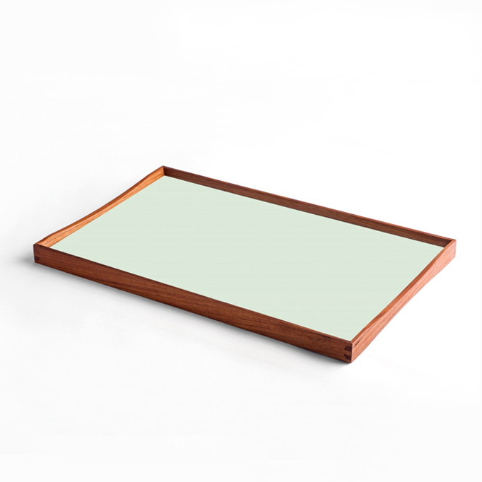 Finn Juhl Turning Tray - Sort/Grøn - FORMajour