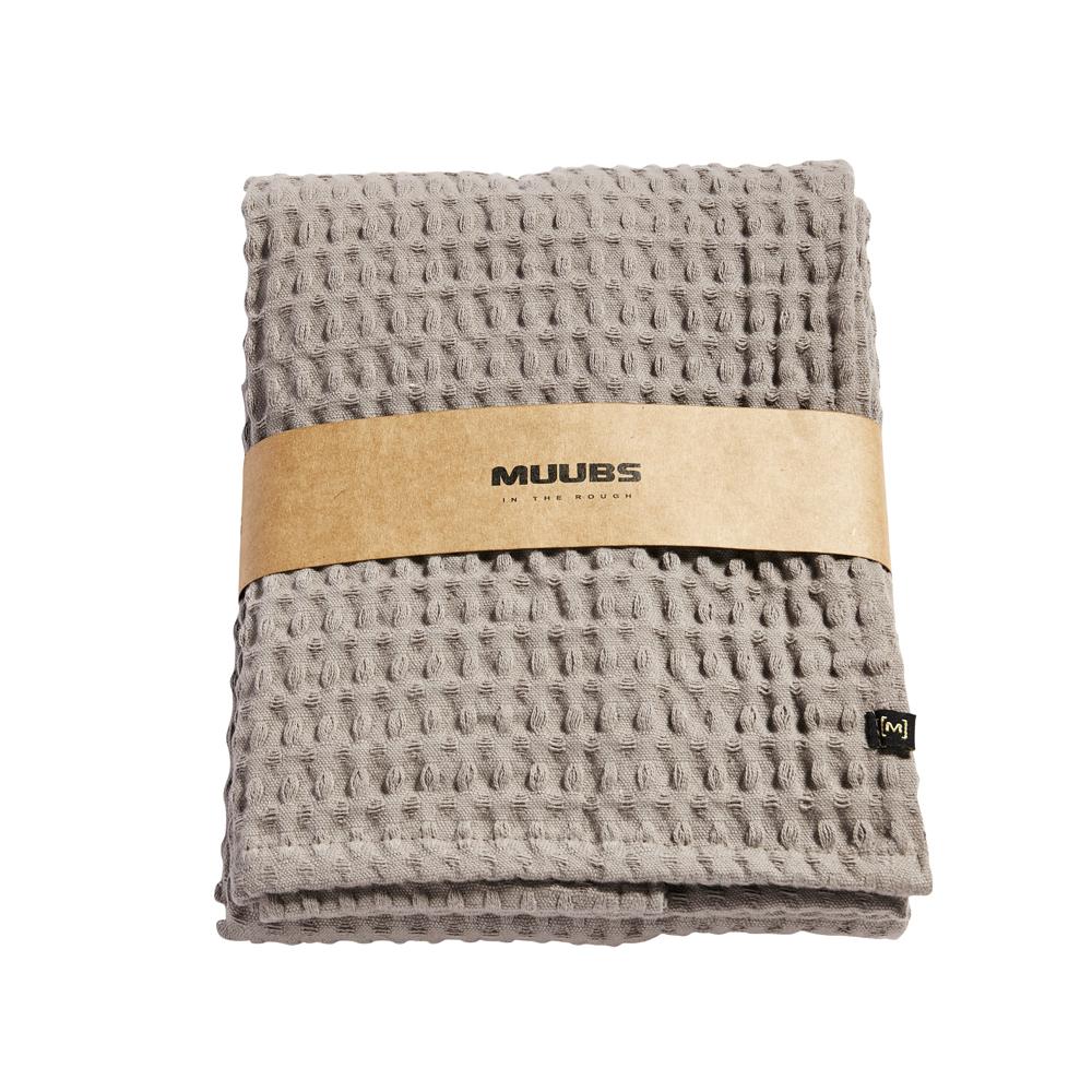MUUBS, Gæstehåndklæde, 100x50cm - Lys brun