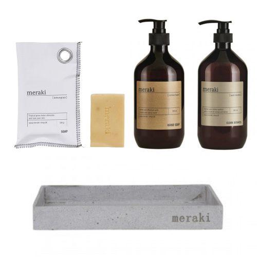 meraki bakke beton sampak sæber håndsæbe formajour opvaskemiddel badeværelse