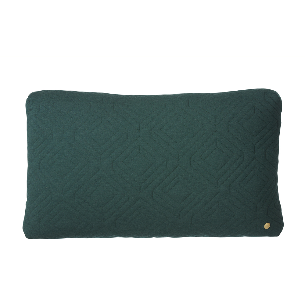 FERM Living, Quilt cushion mørkegrøn