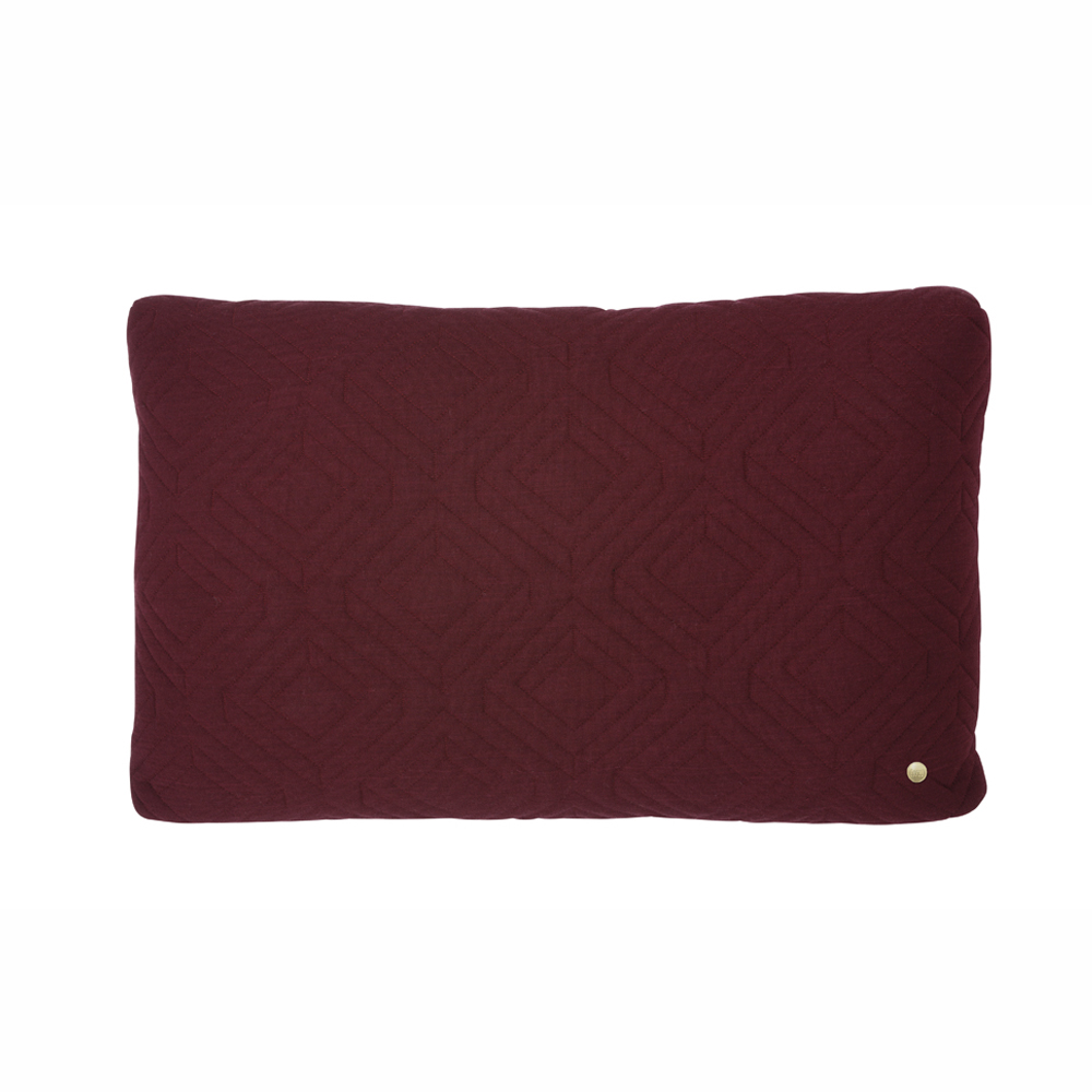 FERM Living, Quilt cushion bordeaux