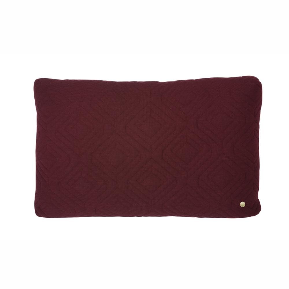 FERM Living, Quilt cushion bordeaux