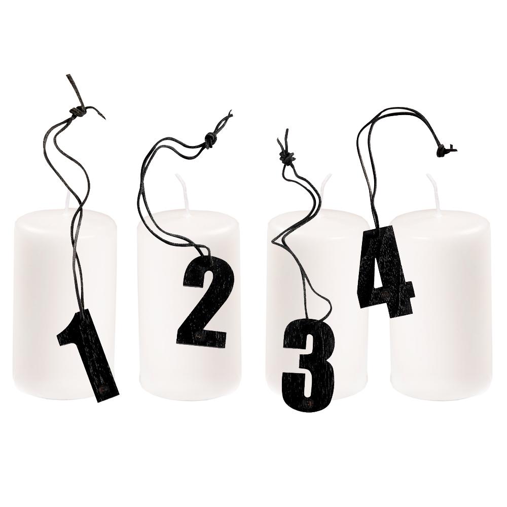 MUUBS, Adventspakke med 4 lys og tal