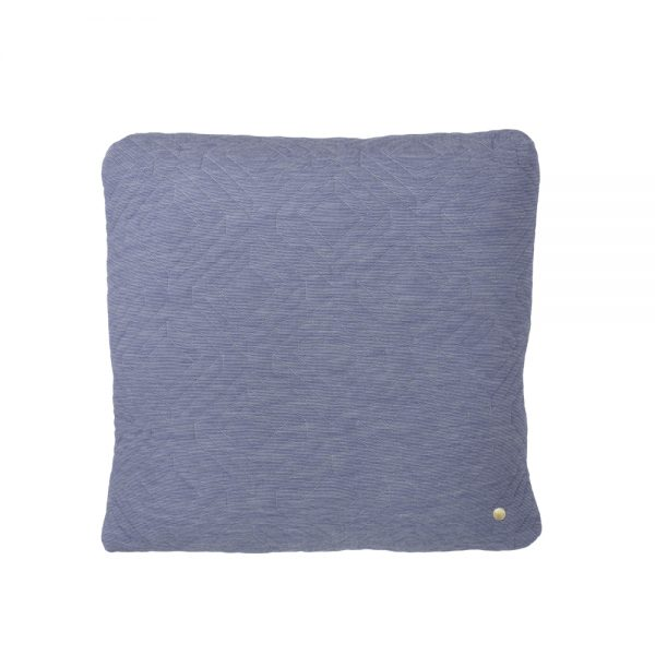 FERM Living, Quilt cushion Lyseblå