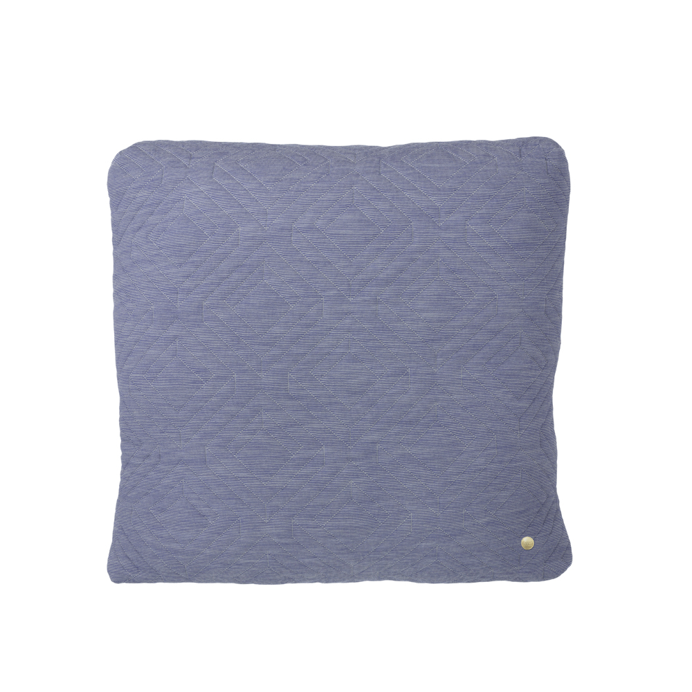 FERM Living, Quilt cushion Lyseblå
