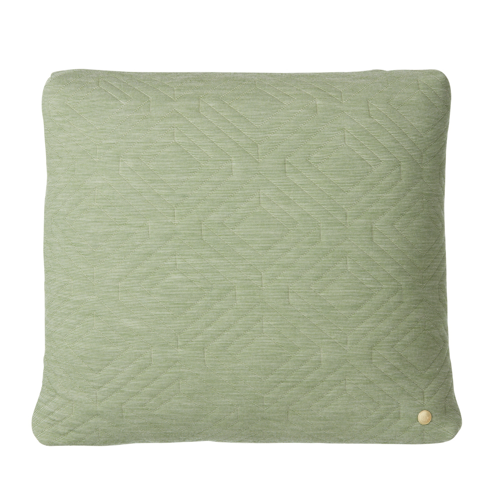 FERM Living, Quilt cushion Lysegrøn