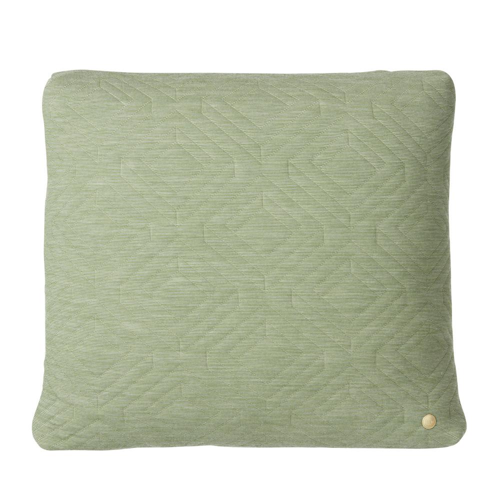 FERM Living, Quilt cushion Lysegrøn