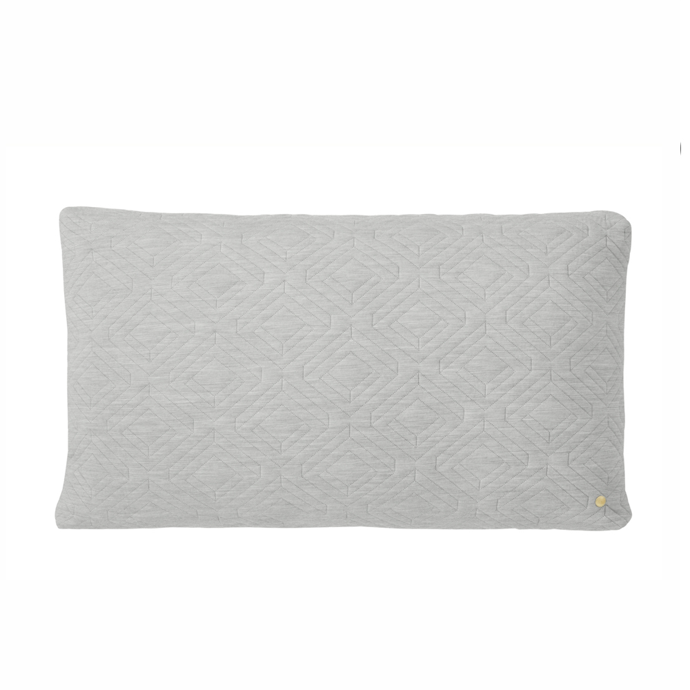 FERM Living, Quilt cushion Grå