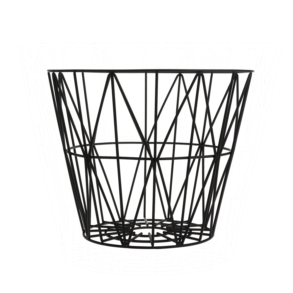 FERM LIVING, Wire basket i sort metal