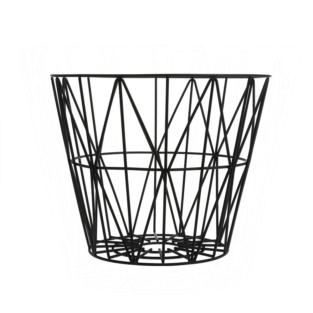 FERM LIVING, Wire basket i sort metal