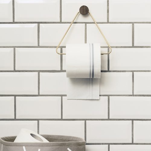 toiletrulleholder ferm living messing træ