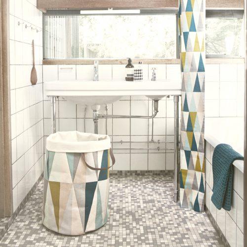 vasketøjskurv spear laundry basket ferm living badeforhæng trekanter