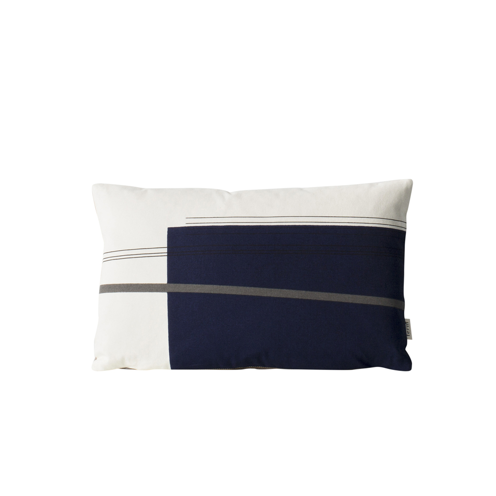 FERM Living, Colour block cushion blå