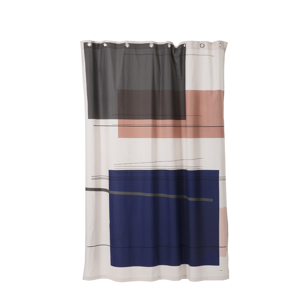 FERM Living, Colour block shower curtain