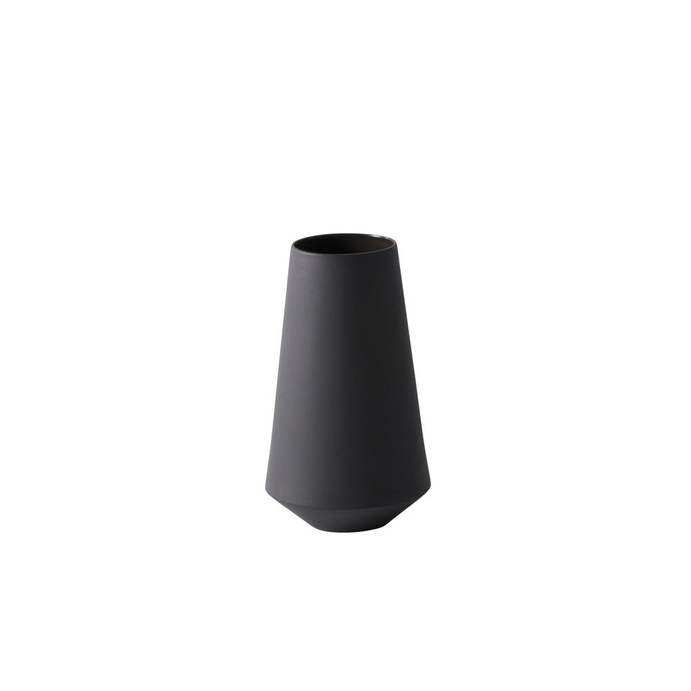 ferm LIVING, Sculpt vase Well - Dark grey