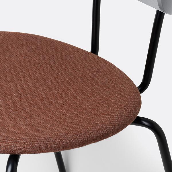 closeup chair grey rust