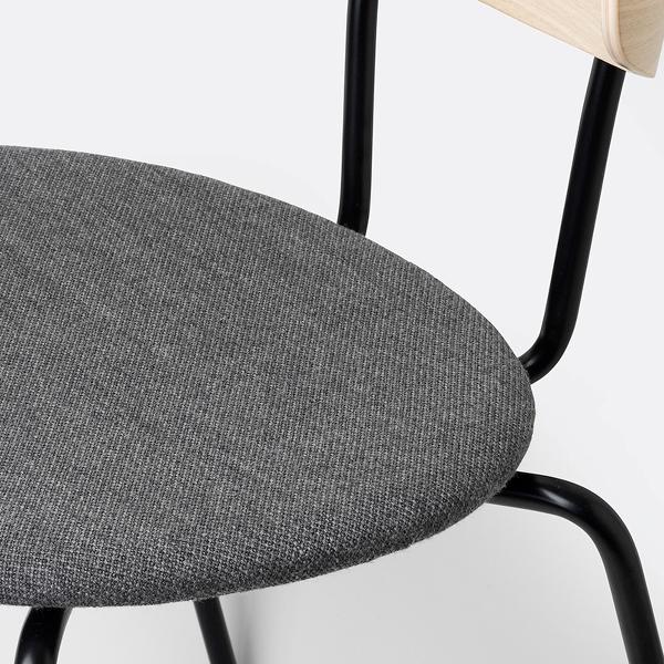 closeup chair oak light grey
