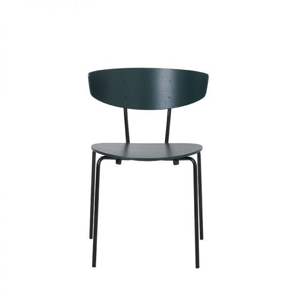 FERM LIVING, Herman Chair – Mørkegrøn