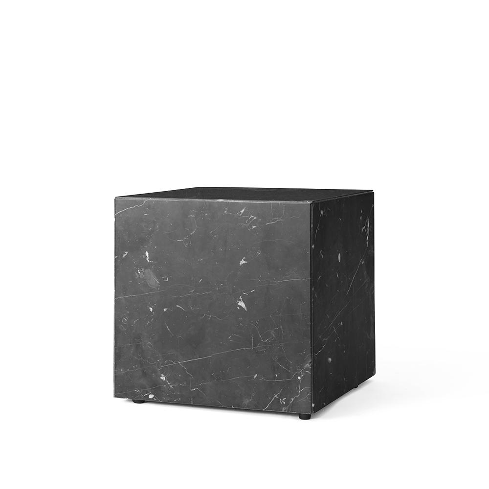 MENU, lille bord/plint i marmor sort