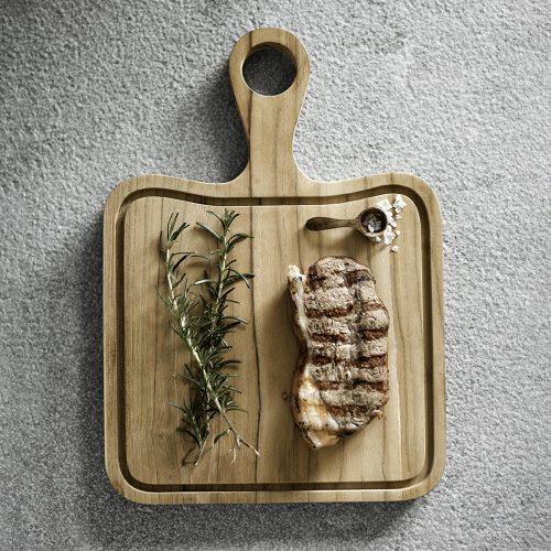 muubs skærebræt træ bøf beef steak