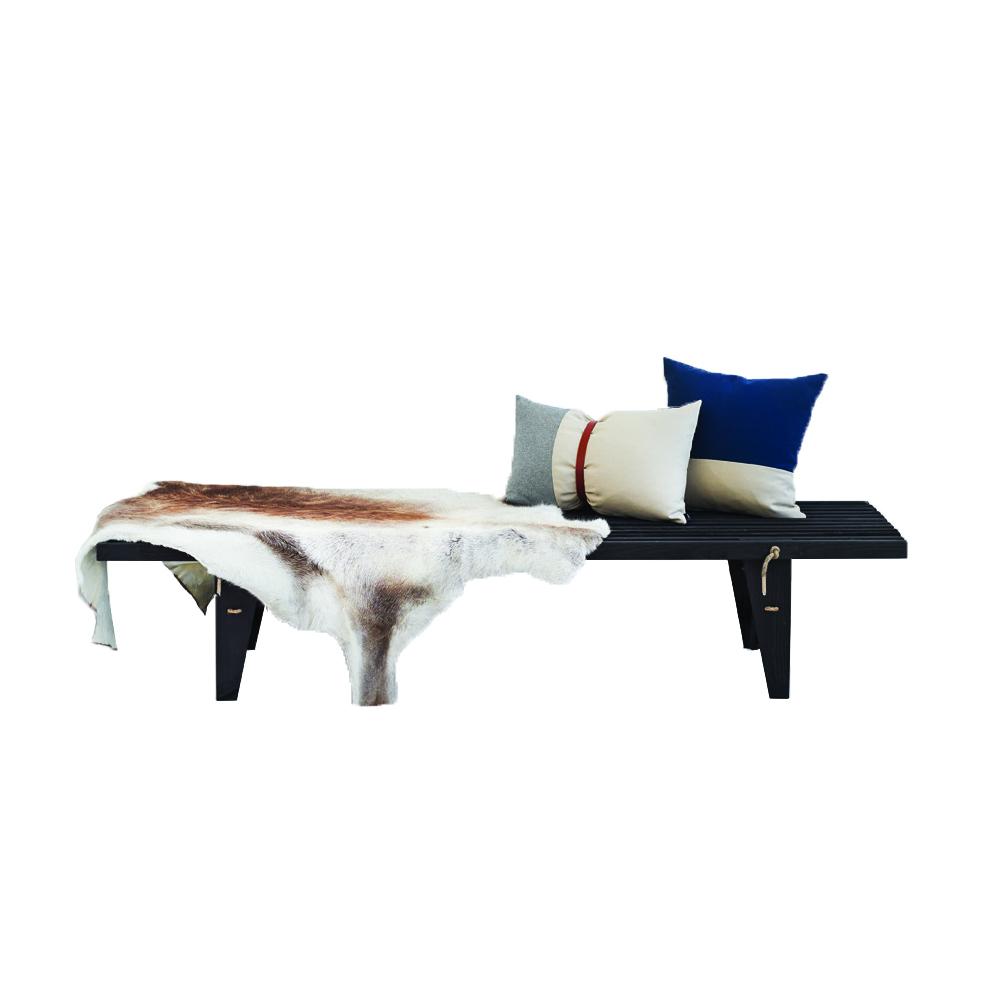 HORNBÆK Daybed - Sortbejdset formajour udeliv terrasse altan havemøbler