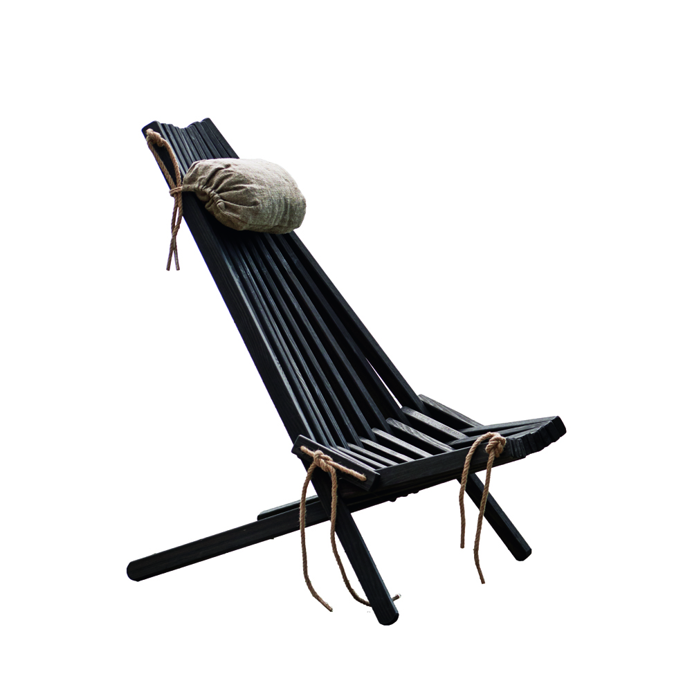 HORNBÆK Stol lounge - Sortbejdset formajour udeliv terrasse altan havemøbler