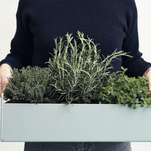 FERM LIVING, Plant box - støvet blå, lille