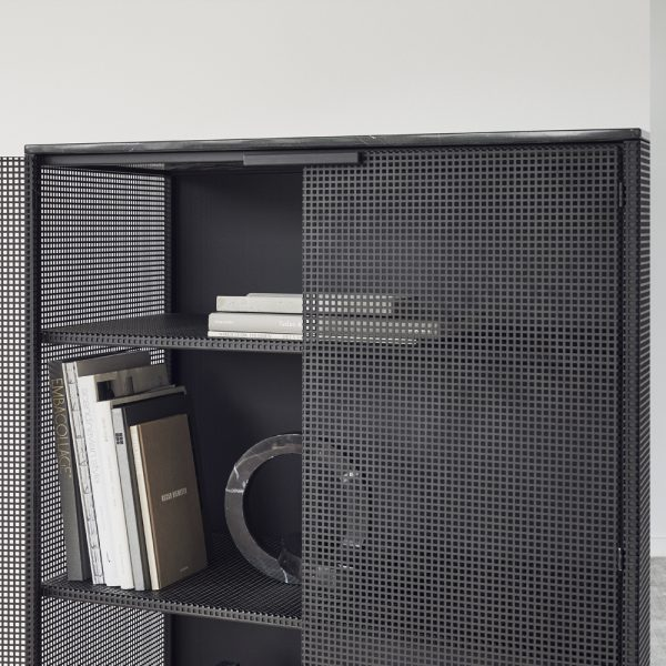 grid cabinet closeup