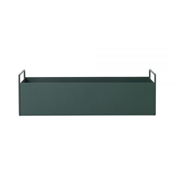 dark green plant box
