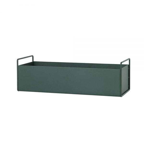 dark green plant box side