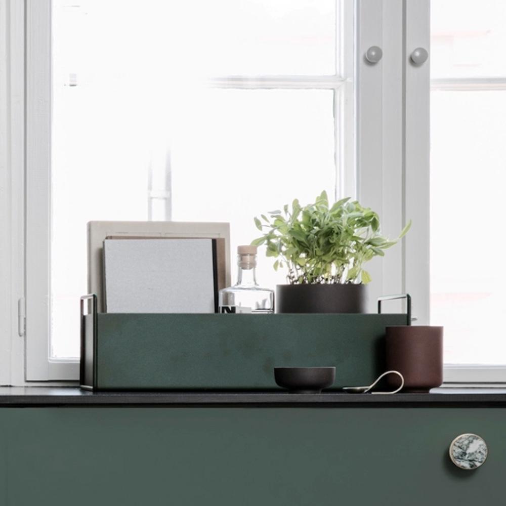 FERM LIVING, Plant box - mørkegrøn, lille