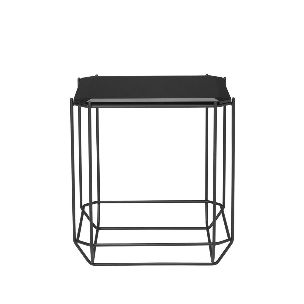 Louise Roe, The jewel side table - smoked glass - FORMajour
