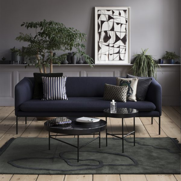 sofa blue the home